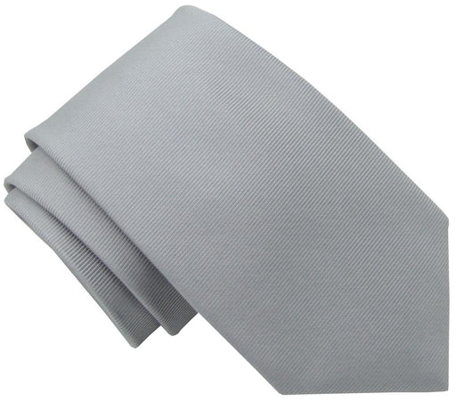 Grey Twill Wedding Tie - Wedding