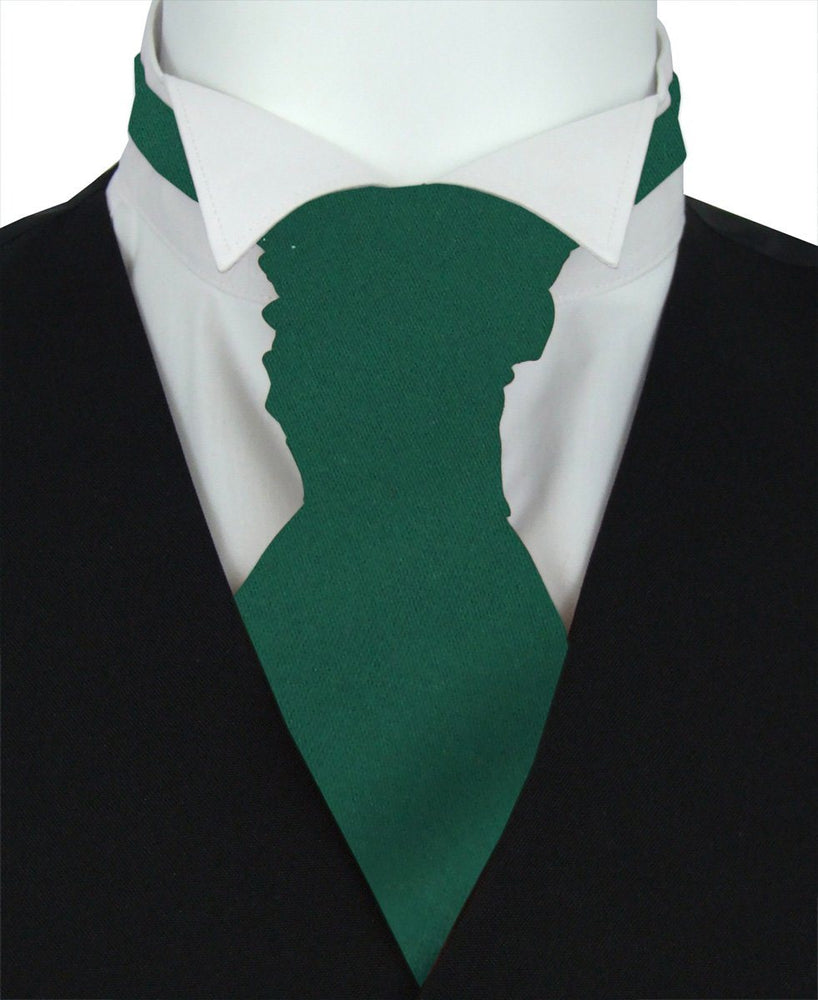 Hunter Green Boys Pre-Tied Wedding Cravat - Childrenswear