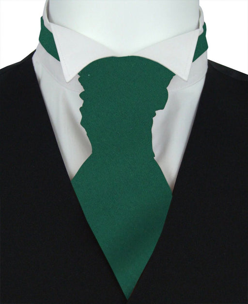 Hunter Green Pre-Tied Wedding Cravat - Wedding