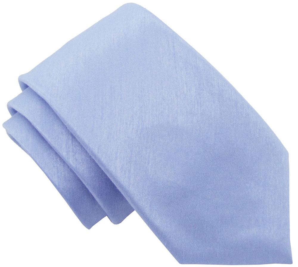 Ice Blue Shantung Boys Tie - Childrenswear