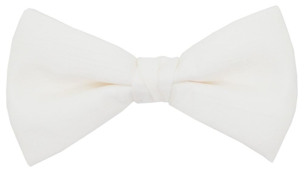 Ivory Lace Shantung Bow Tie - Wedding