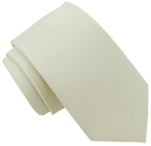 Ivory Silk Wedding Tie - Wedding