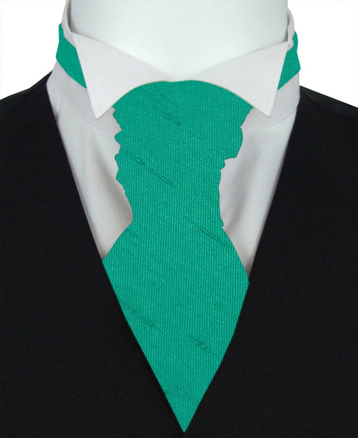 Jade Shantung Pre-Tied Wedding Cravat - Wedding