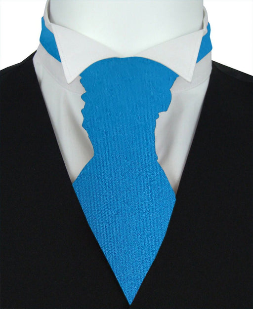 Lagoon Blue Pre-Tied Wedding Cravat - Wedding