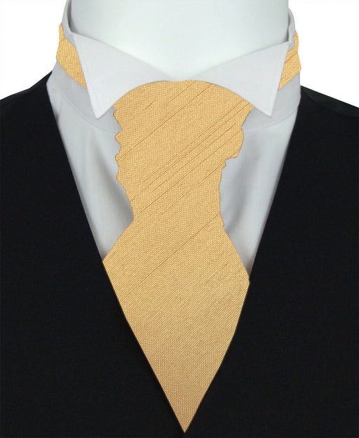 Lemon Shantung Pre-Tied Boys Wedding Cravat - Wedding