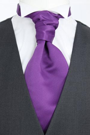 Light Purple Pre-Tied Wedding Cravat - Wedding