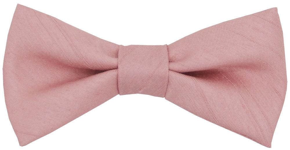 Light Rose Shantung Boys Bow Tie - Childrenswear