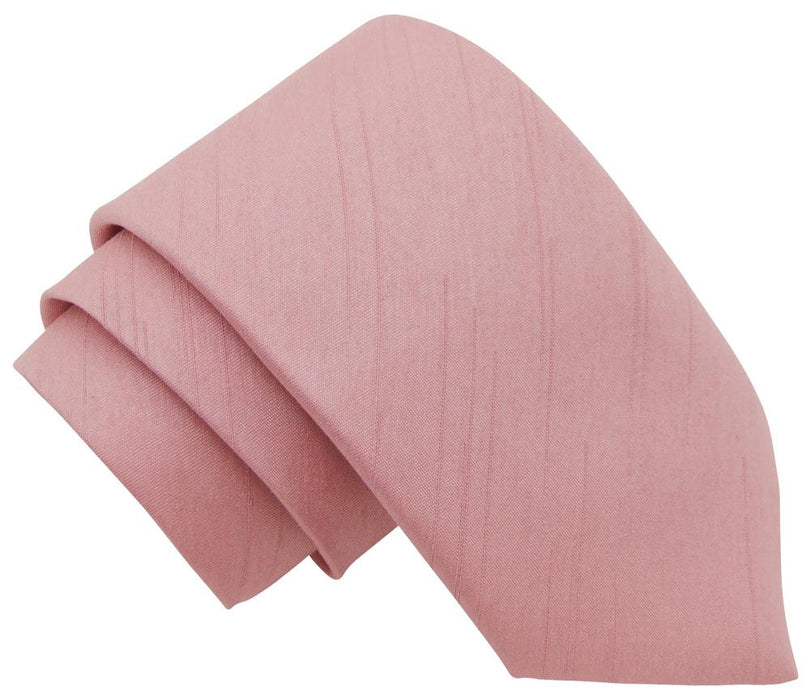 Light Rose Shantung Boys Tie - Childrenswear