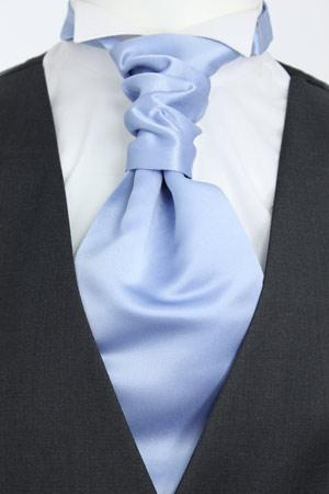 Light Steel Blue Pre-Tied Wedding Cravat - Wedding