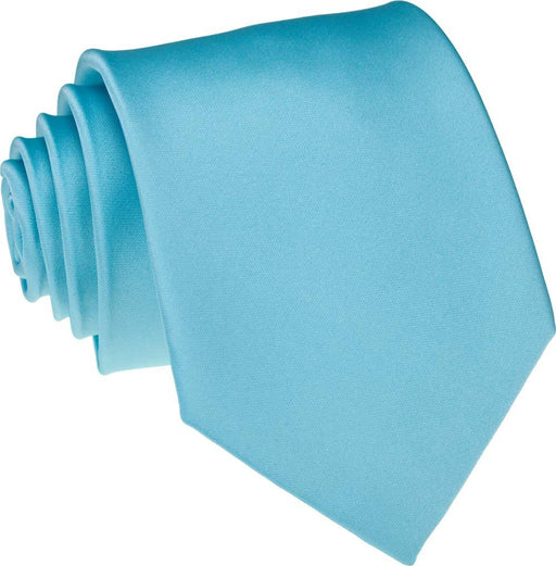 Light Turquoise Skinny Wedding Tie - Wedding