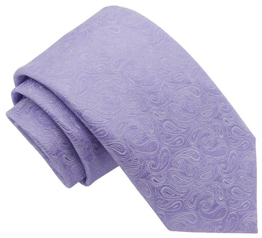 Lilac Paisley Skinny Wedding Tie - Wedding