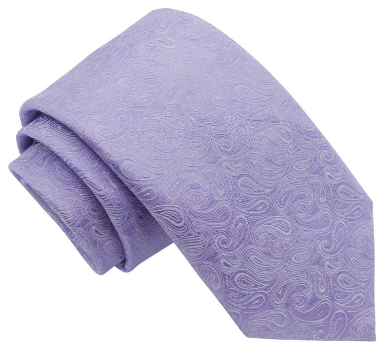 Lilac Paisley Wedding Tie - Wedding