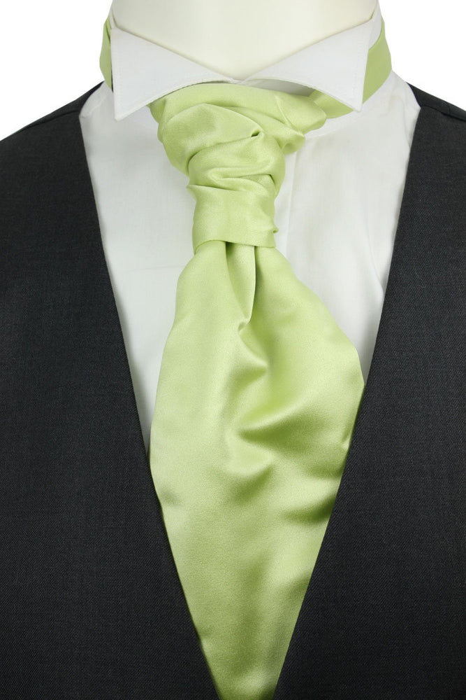 Lime Green Boys Pre-Tied Wedding Cravat - Childrenswear