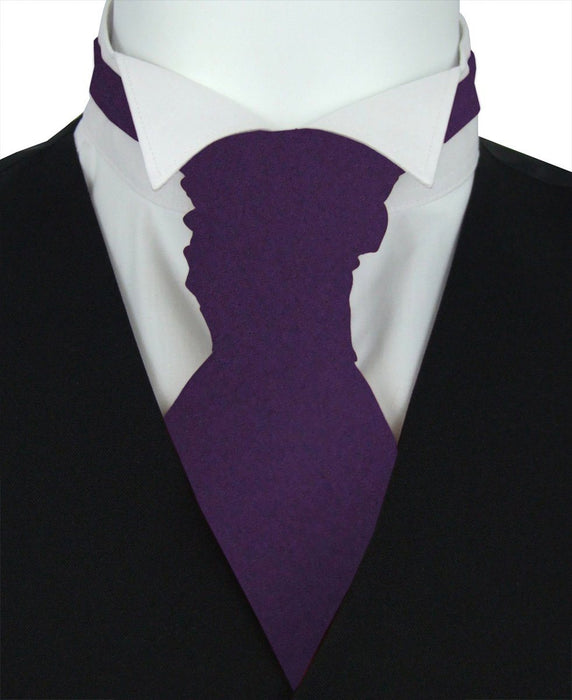 Lotus Purple Boys Pre-Tied Wedding Cravat - Childrenswear