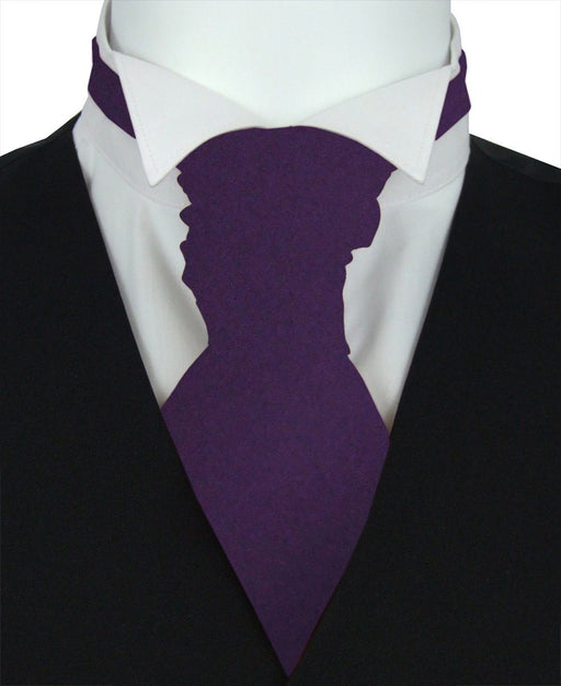 Lotus Purple Pre-Tied Wedding Cravat - Wedding
