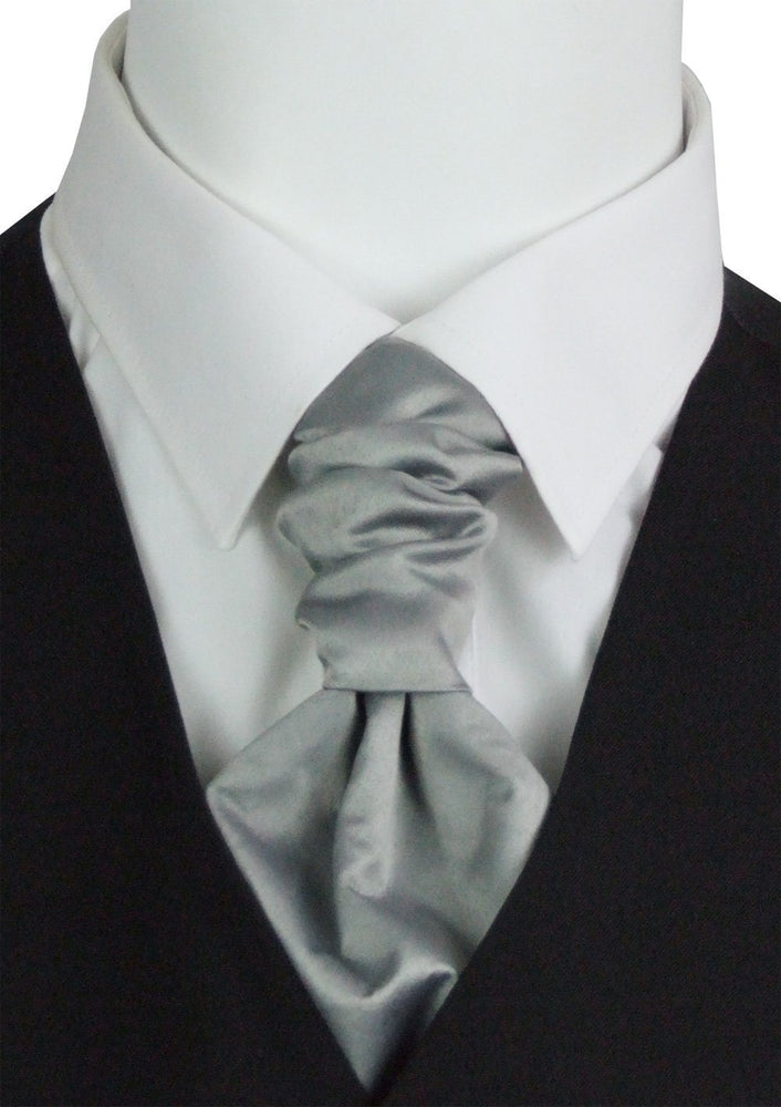 Lunar Grey Boys Pre-Tied Wedding Cravat - Wedding