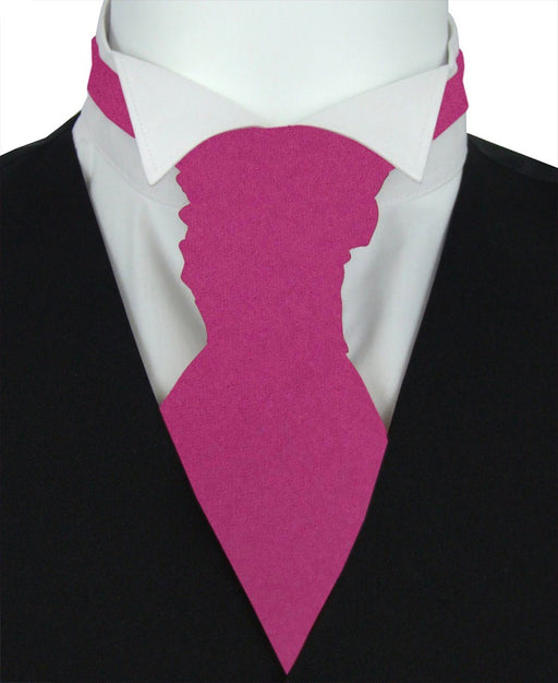Magenta Pre-Tied Wedding Cravat - Wedding