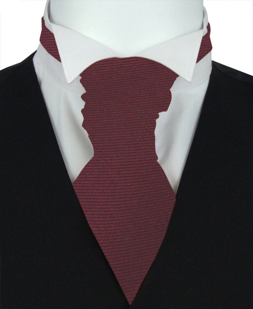 Mahogany Twill Boys Pre-Tied Wedding Cravat - Wedding