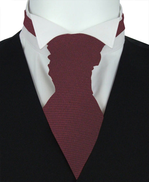 Mahogany Twill Pre-Tied Wedding Cravat - Wedding