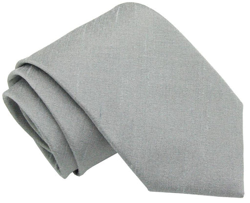Mercury Grey Wedding Tie - Wedding
