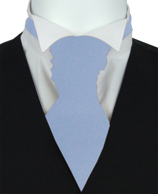 Mid Blue Boys Pre-Tied Wedding Cravat - Childrenswear