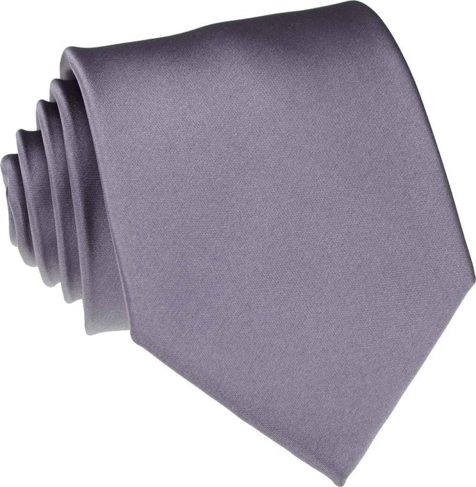 Mid Grey Skinny Wedding Tie - Wedding