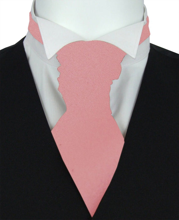 Mid Rose Pre-Tied Wedding Cravat - Wedding