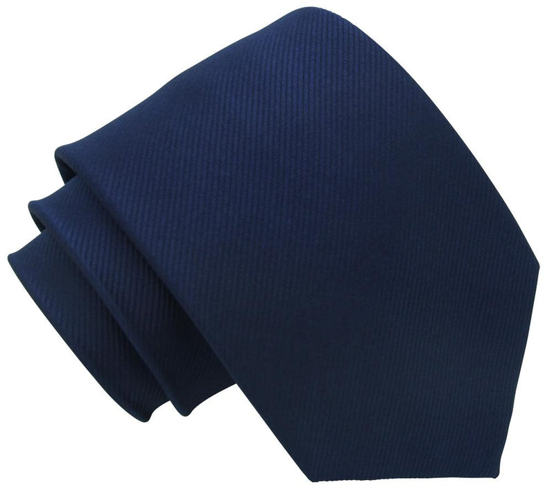 Midnight Blue Silk Wedding Tie - Wedding