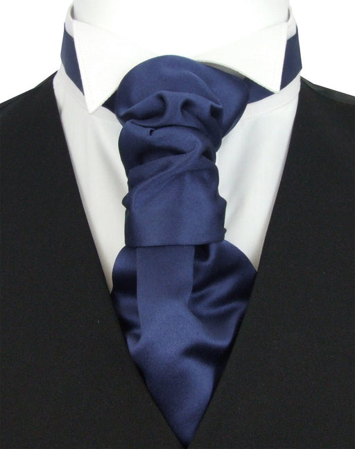 Midnight Pre-Tied Wedding Cravat - Wedding