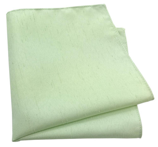 Mint Shantung Pocket Square - Wedding