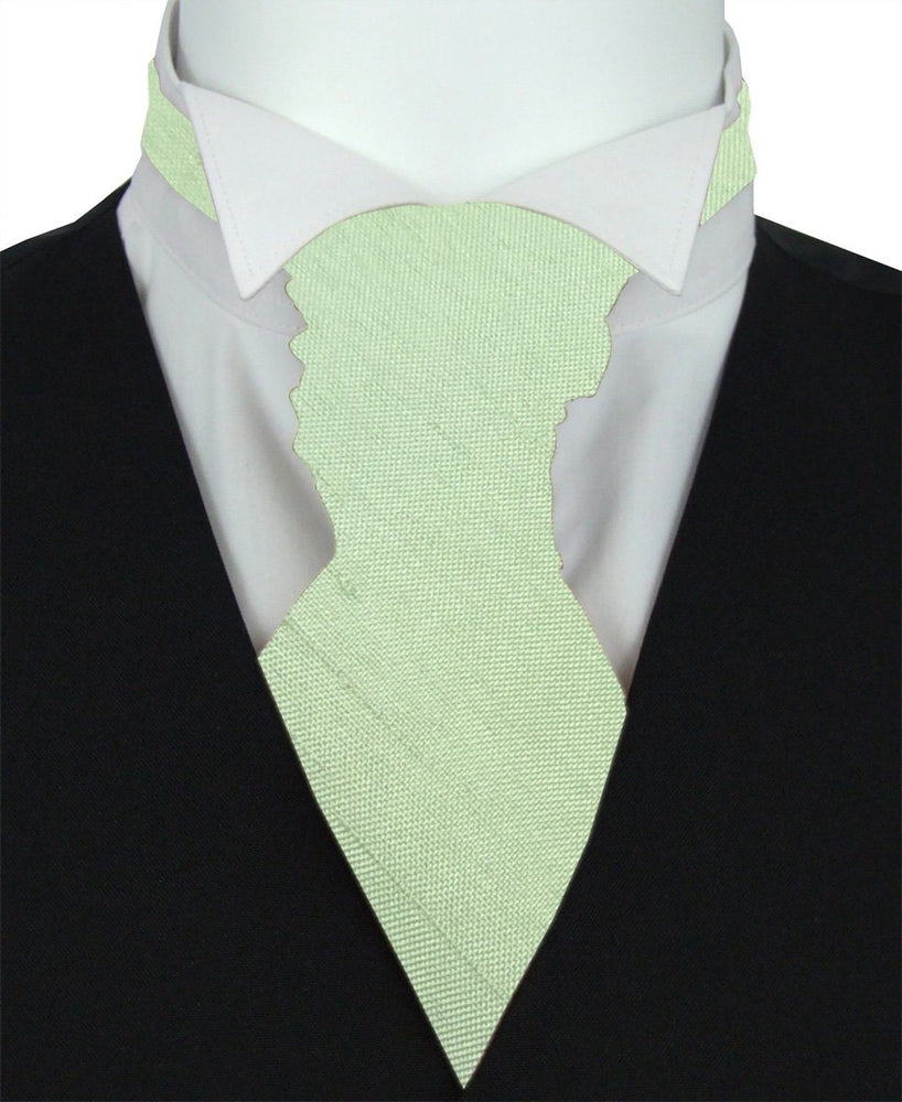 Mint Shantung Pre-Tied Wedding Cravat - Wedding