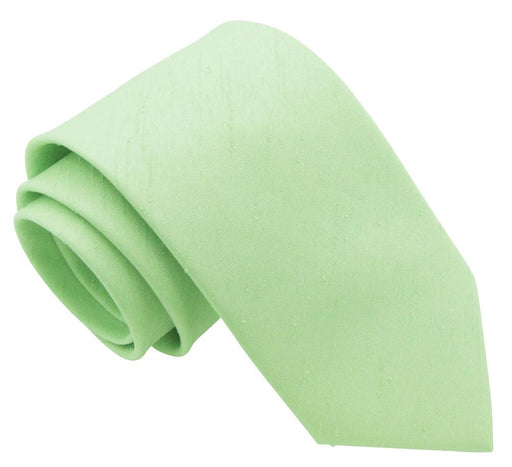 Mint Shantung Wedding Tie - Wedding