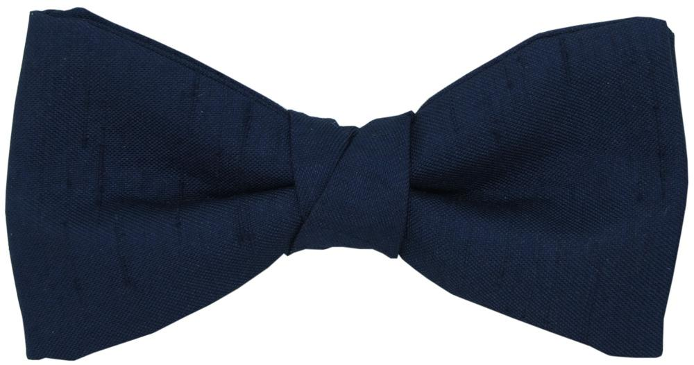 Navy Shantung Boys Bow Tie - Childrenswear