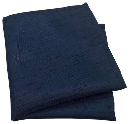 Navy Shantung Pocket Square - Wedding