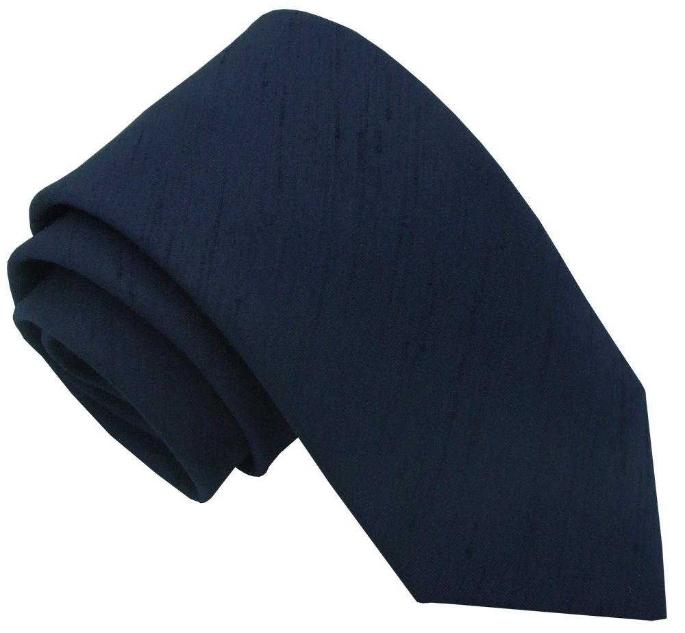 Navy Shantung Wedding Tie - Wedding