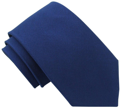 Navy Silk Wedding Tie - Wedding