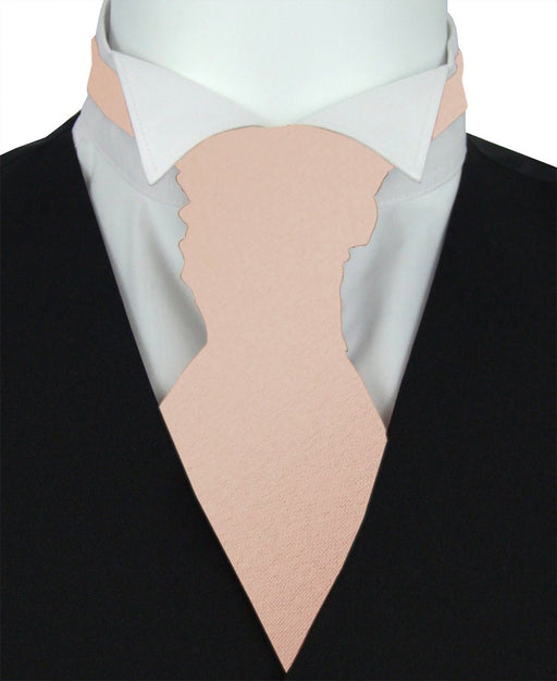 Nude Pre-Tied Wedding Cravat - Wedding