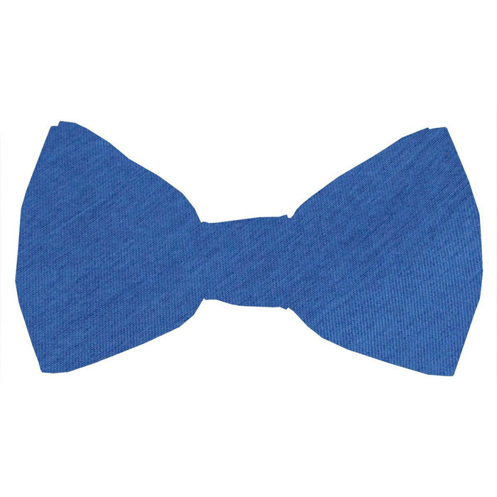 Ocean Blue Shantung Boys Bow Tie - Childrenswear