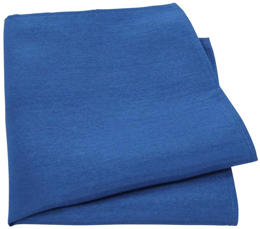 Ocean Blue Shantung Pocket Square - Wedding