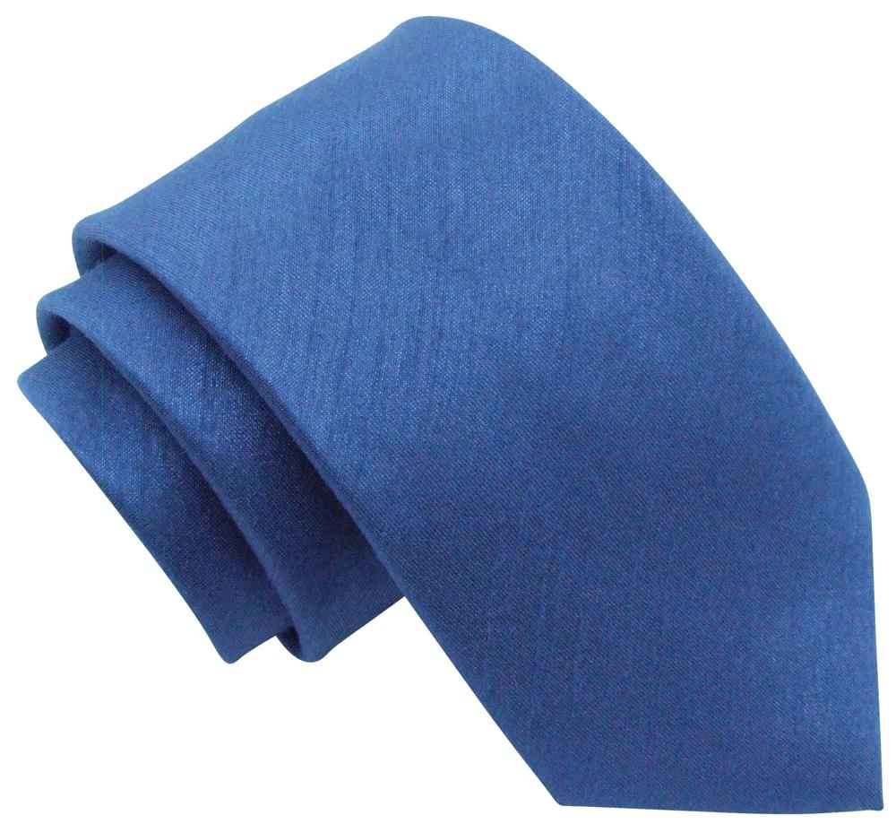 Ocean Blue Shantung Wedding Tie - Wedding