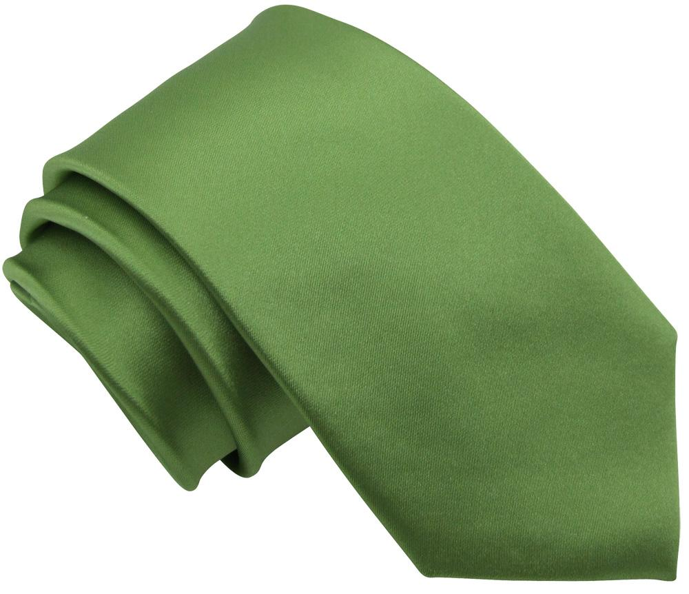 Olive Green Boys Tie - Childrenswear