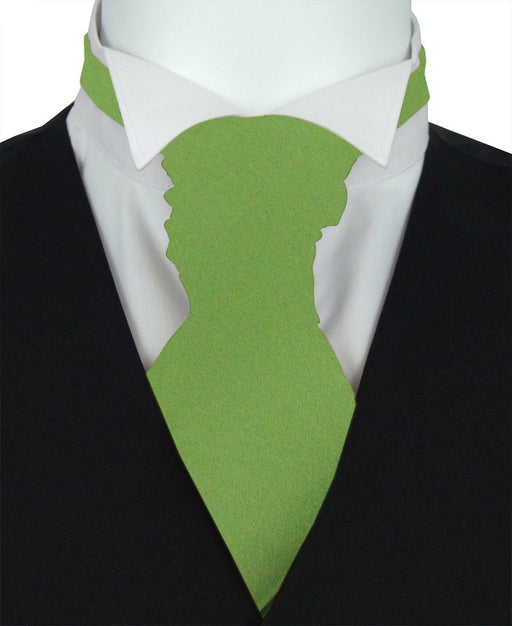 Olive Green Boys Wedding Cravat - Childrenswear