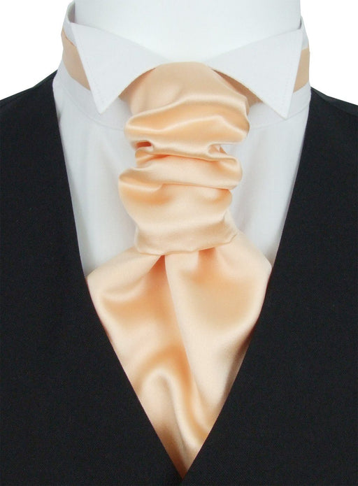Pale Peach Pre-Tied Wedding Cravat - Wedding