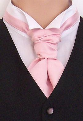Pale Pink Boys Pre-Tied Wedding Cravat - Childrenswear