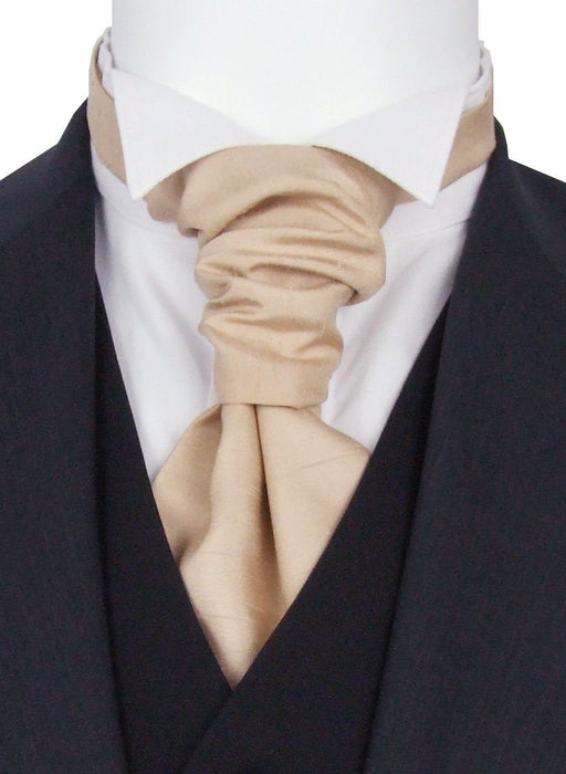 Parchment Shantung Pre-Tied Wedding Cravat - Wedding
