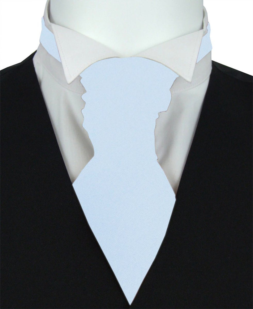 Pastel Blue Pre-Tied Wedding Cravat - Wedding