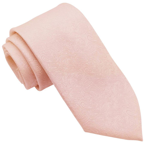Peach Paisley Wedding Tie - Wedding