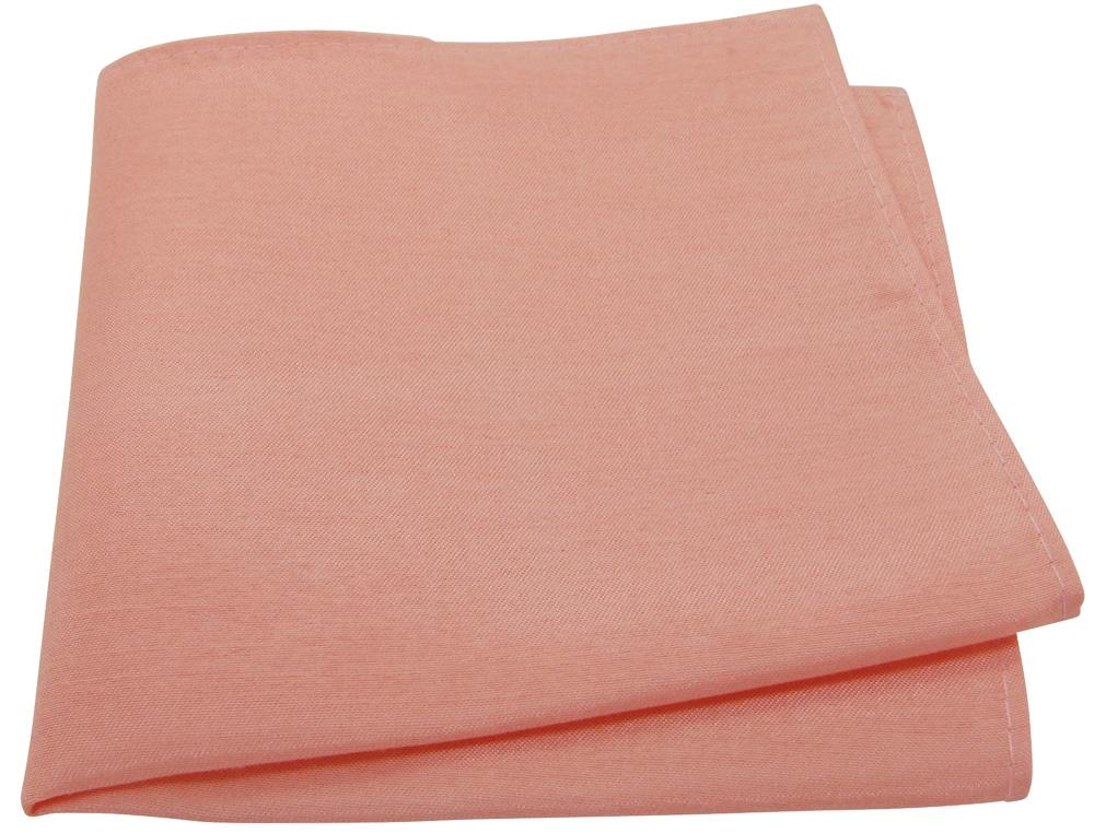Peach Shantung Pocket Square - Wedding
