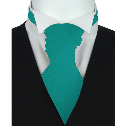 Persian Green Pre-Tied Wedding Cravat - Wedding