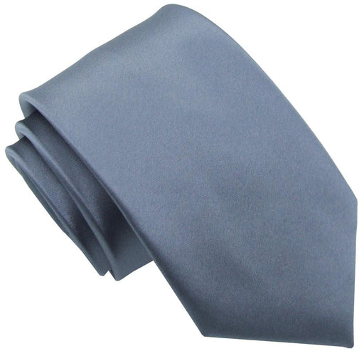 Pewter Skinny Wedding Tie - Wedding